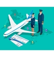 Travel isometric composition Travel and tourism vector image