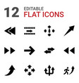 12 forward icons vector image vector image