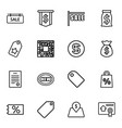 16 price icons vector image vector image