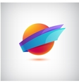 abstract colorful icon logo vector image vector image