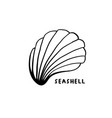 angular murex conch hand drawn ink pen sketch vector image vector image