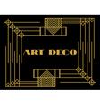 Art deco geometric vintage frame vector image vector image