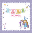 baby shower princess concept vector image