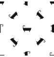 bathtub pattern seamless black vector image vector image