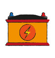 battery flat vector image