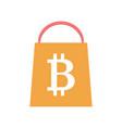 bitcoin shopping icon vector image