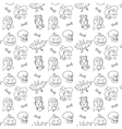 black and white textile halloween pattern vector image vector image