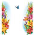 Border from flowers vector image vector image