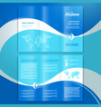 brochure design template leaflet airplane way vector image vector image