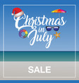 Christmas in july sale marketing template