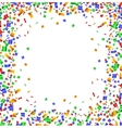 Colorful confetti frame on white background vector image