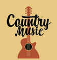 country music poster with an electric guitar vector image vector image