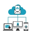 cyber security system cloud design vector image vector image