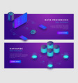 data processing and database concept banner vector image vector image