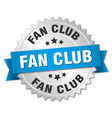 fan club round isolated silver badge vector image vector image
