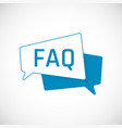 faq icon frequently asked question as speech vector image
