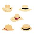farmers gardening hats vector image vector image