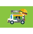 Fast food car icon Meat grilled product hot dogs vector image