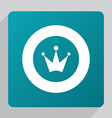 flat crown icon vector image