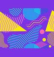 geometric seamless pattern in memphis and pop art vector image vector image