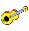 guitar toy icon cartoon style vector image