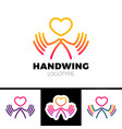 heart in hand symbol sign icon logo template for vector image vector image