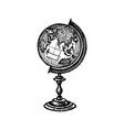 ink sketch globe vector image