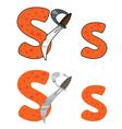 letter S sword vector image vector image
