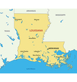 Louisiana - map vector image vector image