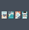 medical flat style covers set health care first vector image vector image