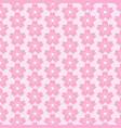 pattern flower cherry vector image vector image