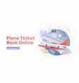 plane ticket book online banner vector image