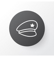 police cap icon symbol premium quality isolated vector image