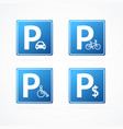 realistic detailed 3d different parking signs set vector image vector image