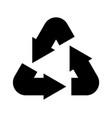 recycling icon simple black environmental label vector image vector image
