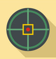 red point gun aim icon flat style vector image vector image
