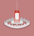 sale tag in bear trap vector image vector image