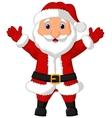 Santa cartoon waving vector image vector image