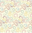 Seamless polka dot blue pattern with circles vector image