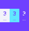 set number 3 minimal logo icon design template vector image vector image