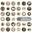 Set of round music icons vector image