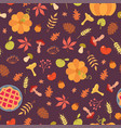 simple food seamless pattern vector image vector image