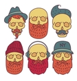skull hipster hand drawn vector image