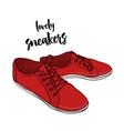 sneakers in cartoon style hand vector image
