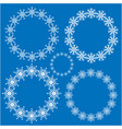 snowflake round frame set vector image vector image