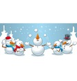 Snowman juggles vector image