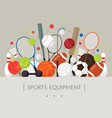 Sports Equipment Flat Icons Display Label vector image vector image