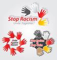 Stop racism label set vector image
