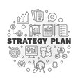 strategy plan circular in vector image