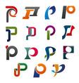 symbol letter p for corporate identity design vector image